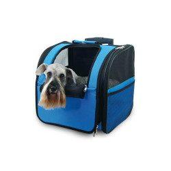 trolley para perro azul