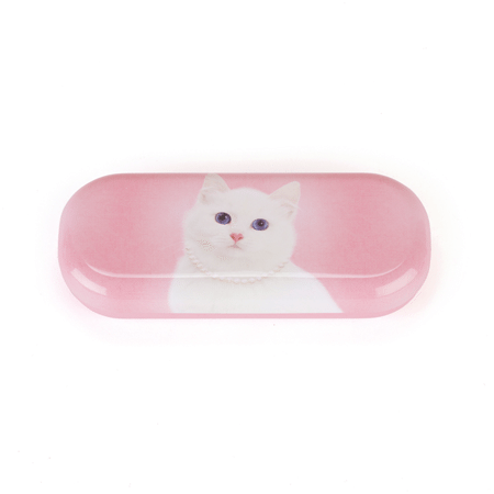 funda gafas gato blanco