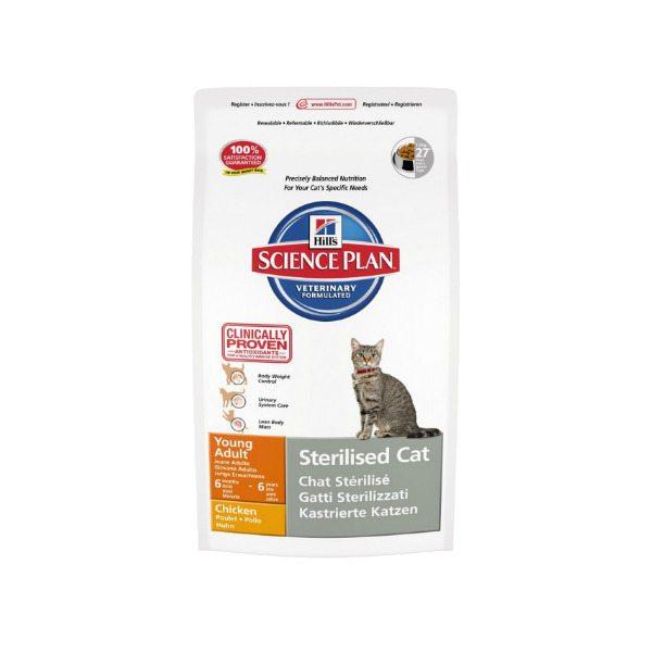 pienso con sabor a pollo especial para gatos jovenes esterilizados problemas urinarios peso de entre seis meses y 6 años de edad