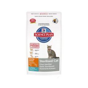 pienso con sabor a atun especial para gatos jovenes esterilizados problemas urinarios peso de entre seis meses y 6 años de edad