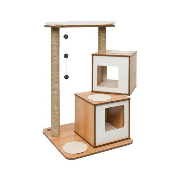 rascador madera diseño para gato
