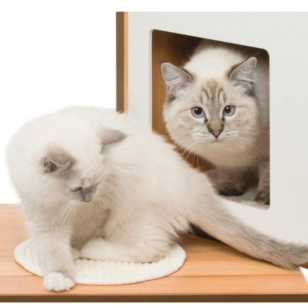 Mueble rascador para gatos v doble vesper aristopet for Mueble arenero para gatos