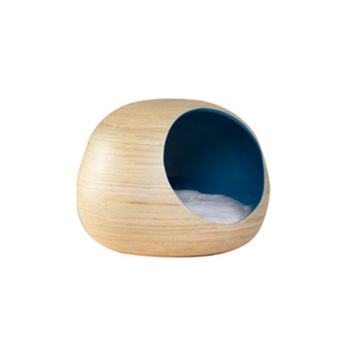 Cama Cueva para Mascotas Interior Azul