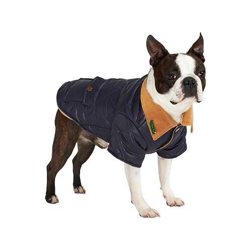 Abrigo para Perro Navy Blue Quilted