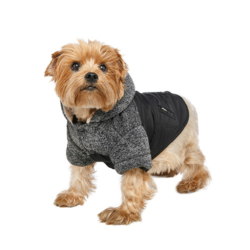 Abrigo para Perro Cheviot Tweed Trimmed Parka