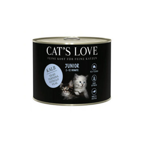 Lata CAT'S LOVE Junior Ternera 200 Gr
