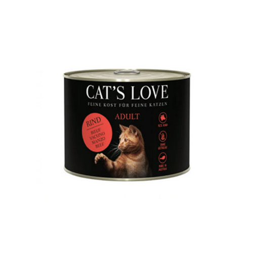 Lata CAT'S LOVE Adult Vacuno Puro 200 Gr