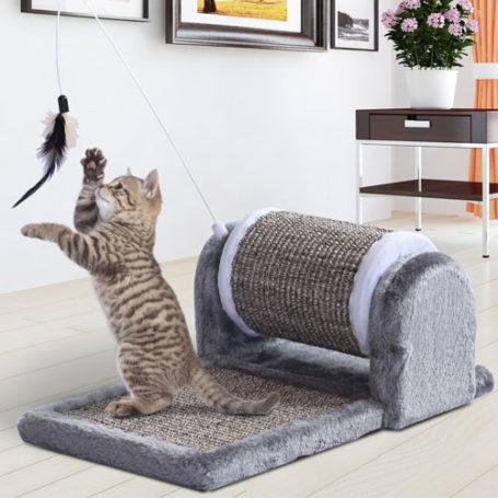 Rascador para Gato con Juguete PawHut