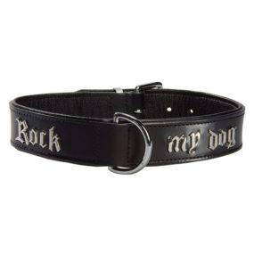 Collar para Perro de Cuero Negro Rock My Dog